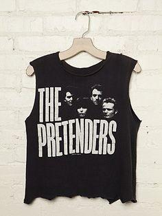 Vintage The Pretenders 1984 Rock Tank