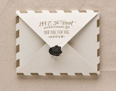 Ali + Zach's Leather and Gold Foil Passport Save The Dates | Ladyfingers Letterpress | Oh So Beautiful Paper