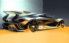 #McLaren P1 GTR design sketch