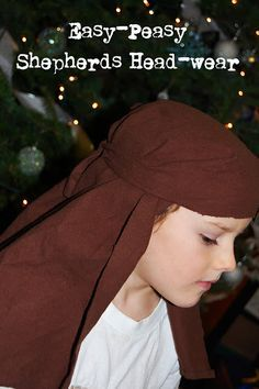 Toad's Treasures: Nativity headwear. Pillowcase or sheet of felt, Super-easy and no-sew.