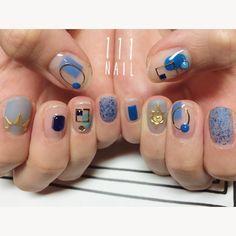⚪️▫️#Nail#art #nailart…
