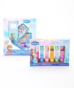 Look at this #zulilyfind! Frozen Cosmetic Kit & Lip Gloss Set by Frozen #zulilyfinds