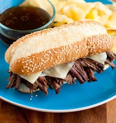Slow Cooker French Dip Sandwiches (5 minutes prep recipe)