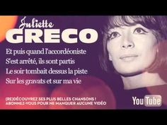 Juliette Gréco - C'était bien (Le petit bal perdu) - Paroles (Lyrics)