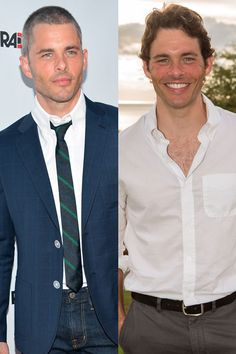 James Marsden  The actor debuted a newly shaved head at the August 23 premiere of Bachelorette in Los Angeles.