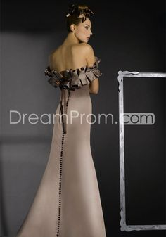 Cascading Ruffles Sheath A-Line Strapless Floor-length Bridesmaid Dresses