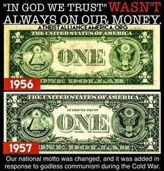 """""""In God We Trust"""" wasn't always on our money. Silly Facts, Pledge Of Allegiance, Free Thinker, In God We Trust, Hard Truth, Founding Fathers, Atheism, No Response, Religion"""