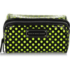 Marc by Marc Jacobs Polka-dot PVC and mesh cosmetics case ($47) ❤ liked on Polyvore featuring beauty products, beauty accessories, bags & cases, makeup bag case, cosmetic bag, make up purse, marc by marc jacobs makeup bag and wash bag