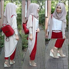 A Very Nice Selection of Over 42 Hijab Outfits To Inspire You! Modern Hijab Fashion, Muslim Women Fashion, Street Hijab Fashion, Hijab Fashion Inspiration, Islamic Fashion, Abaya Fashion, Mode Inspiration, Fashion Outfits, Fashion Muslimah