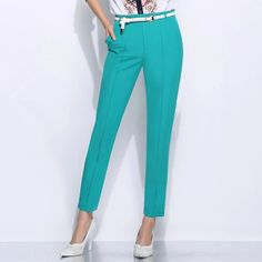 Fashion Design Fresh Slim Fit Ninth Pencil Pants