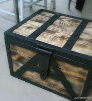 Metal & Barnwood storage box / Latch and handles too!