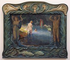 "paintingses: "" "" Idyllic Landscape with Bathers by Ludwig von Hofmann medium unknown, 1900 "" "" Illustration Art Nouveau, Victorian Life, Museum, Ludwig, Pre Raphaelite, Art Graphique, Gay Art, Oeuvre D'art, Les Oeuvres"