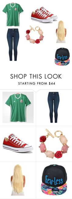"""Untitled #122"" by marichelomendoza on Polyvore featuring adidas, J Brand, Converse and Oscar de la Renta"