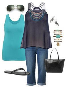 """""""Plus Size Summer Outfit"""" by jmc6115 on Polyvore"""