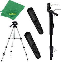 "Pro Aluminum Adjustable 50"" Tripod & 72"" Monopod For: Fujifilm X-E1, X-E2, X-E2S, X-M1, X-Pro1, X-Pro2, X-S1, X-T1, X-T1 IR, X-T10, X-T2 Pro Digital Photo Video Travel Tripod + MonoPod"