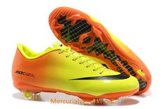 Nike Mercurial Vapor IX FG Soccer Shoes Yellow Orange Black
