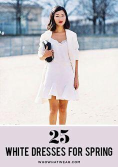 White dresses = spring/summer uniform.