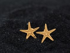 Starfish Earrings, Starfish Studs, silver Seastar, Beach wedding, Summer Jewelry, Ocean jewelry, solid gold star studs, bridesmaid jewelry by Giousouri on Etsy https://www.etsy.com/listing/228250112/starfish-earrings-starfish-studs-silver