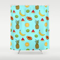 Tropical Fruity Summer Pattern Shower Curtain