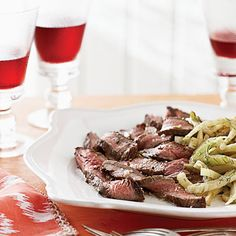 15-Minute Meal: Flank Steak with Lemon Fennel