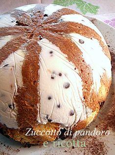 Zuccotto pandoro e ricotta Burritos, Biscotti, Italian Christmas Cake, Torta Angel, Delicious Desserts, Yummy Food, Xmas Food, Italian Desserts, Winter Food