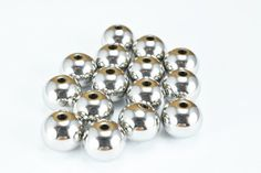 Stainless Steel Round Beads, (AAA) Quality, 30 PCs, Smooth Seamless Spacer Beads for Jewelry Making Jewelry Making Beads, Gold Filled Chain, Round Beads, Smooth, Stud Earrings, Stainless Steel, Hot, How To Make, Handmade