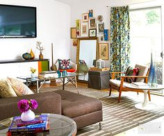 Still mourning the loss of Mad Men? Help alleviate its absence with these retro-inspired rooms. Whether you prefer the midcentury mix of Peggy's apartment, Bert Cooper's global influence, or Joan's feminine flair, you'll feel right at home in these modern spaces with '60s spirit. So fix yourself an old-fashioned, and let the nostalgia begin.