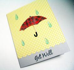5 Handmade Get Well Soon Card Raindrops