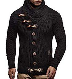 suéter con capucha de la chaqueta de Leif NELSON los hombres suéter con  capucha Manga larga LN4195 (Pequeño b19c2abf023c