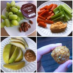Lots of healthy snack ideas great for work and school