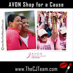 Shop for a Cause, with Avon. Safer, Sounder, Better Lives. That is our goal @ the Avon Foundation. Our efforts to eradicate breast cancer (Breast Cancer Crusade) & to end domestic and gender violence (Speak Out Against Domestic Violence) worldwide have helped move these issues out of the shadows and into the public dialogue. Starting @ $5.  #Avon #CJTeam #C10 #Causes #AvonCauses #BreastCancer #Avon39 #SpeakOut #ShopForACause Shop Avon Causes Online @ www.TheCJTeam.com