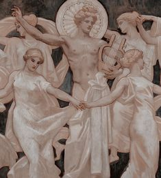 apollo, febo, muses, greek nd gods. Rennaissance Art, Greek Paintings, Greek Mythology Art, Little Buddha, Greek Gods And Goddesses, Templer, Art Antique, Greek Art, Ap Art