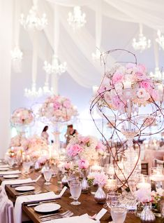 Well-designed floral arrangements will make your wedding truly unforgettable! Take a look at these amazing wedding flower ideas from Rachel A. Clingen Wedding & Event Design, get inspired and happy pinning! Tent Wedding, Mod Wedding, Wedding Table, Floral Wedding, Wedding Events, Wedding Reception, Destination Wedding, Wedding Flowers, Wedding Planning