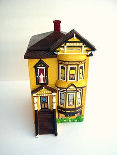 Cute Vintage San Francisco Victorian House Cookie Jar
