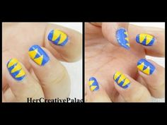 Pointed Triangle Nail Art