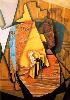 Un hombre en un café, 1914 de Juan Gris (1887-1927, Spain)