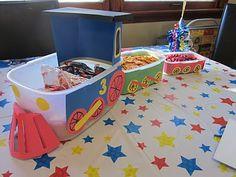train birthday party snack tray