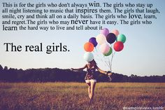 I absolutely love this. Real Girls.