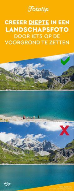 Landschapsfotografie tips: Door iets op de voorgrond / onderin beeld te zeggen, geef je een landschapsfoto diepte. Juist die diepte mis vaak in je foto's! In dit artikel meer voorbeelden van deze fotografietip
