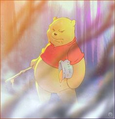 """The Bear with the Belly Shirt"" by *kizer180 on deviantART.  ... Pooh Bear gonna mess you the f*** up. #fanart Winnie the Pooh"