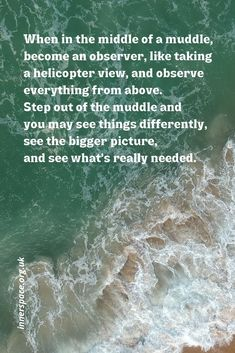 Becoming an observer Mind Gym, Big Picture, Meditation, Mindfulness, Reading, Consciousness, Zen