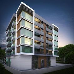 EYE HOUSE APARTMENTS Building Elevation, Building Facade, Building Design, Facade Architecture, Residential Architecture, Facade Design, Exterior Design, Simple House Plans, Architectural House Plans