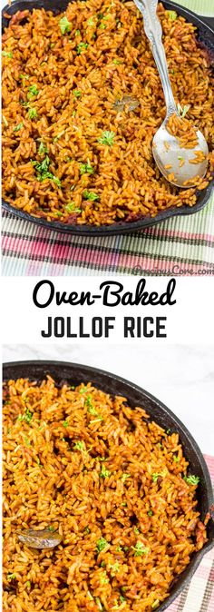 How to cook West African Jollof Rice right in your oven. Get the recipe on PreciousCore.com. #JollofRice #Dinner #Vegan