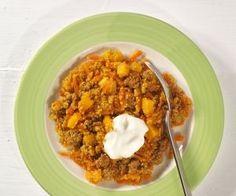 Fruchtige Quinoa-Hackfleisch-Pfanne