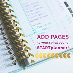 Have you ever wondered how you can insert downloads, extra pages, or our printables into our your spiral planner? Well we got you covered! On the blog today is a way you can do just that! Shout out to Audria Lewis for showing this to us with her planner! YOU ROCK!!!!