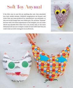 kid-designed critters from HANDMADE HEIRLOOMS