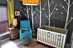 Charcoal baby room walls!