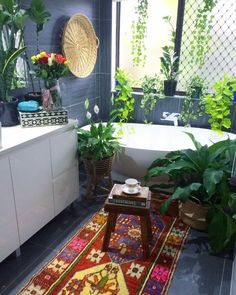 plants + carpet