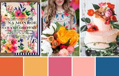 Colourfun! An Eclectic Orange, Pink, and Blue Colour Palette , love these colors for my craftroom