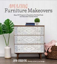Amazing Furniture Makeovers book by Girl in the Garage, available everywhere now. Easy DIY projects to transform thrifted finds into beautiful custom pieces.  So many awesome tips and tutorials! Furniture Projects, Diy Projects, Diy Furniture Makeovers, Furniture Stores, Furniture Repair, Furniture Shopping, Furniture Removal, Dollhouse Bookcase, Diy Simple